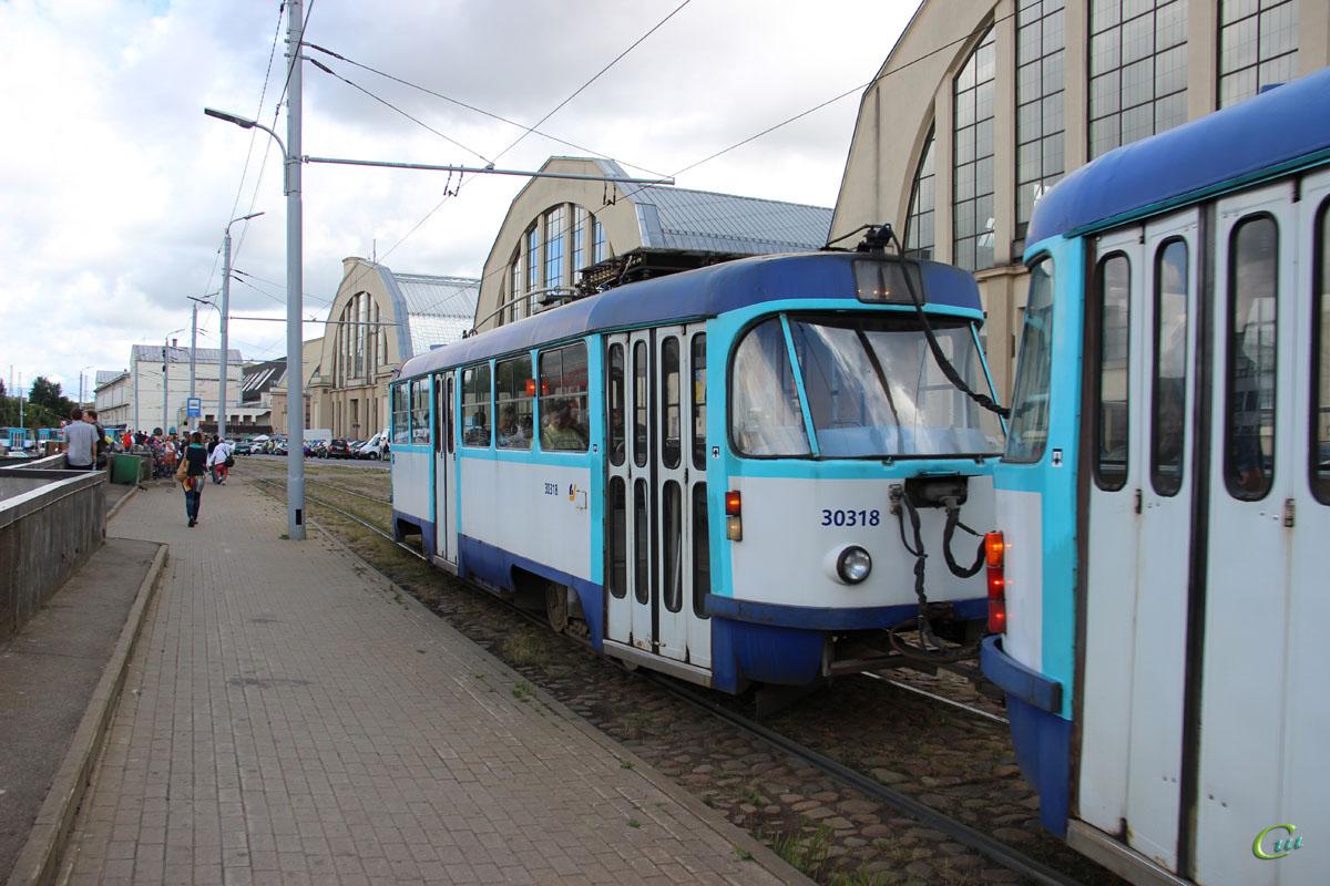 Рига. Tatra T3 №30318