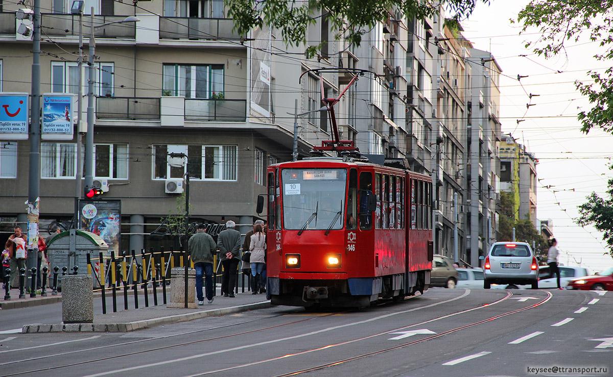 Белград. Tatra KT4 №346