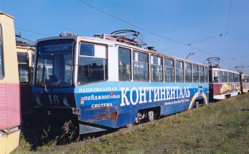 Нижний Тагил. 71-608КМ (КТМ-8М) №18, 71-605 (КТМ-5) №47