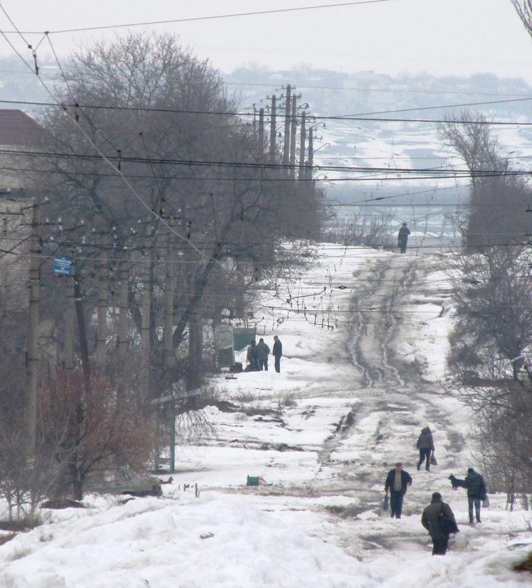 Николаев. До сих пор остаются нерасчищенными трамвайные пути на отрезке от ул