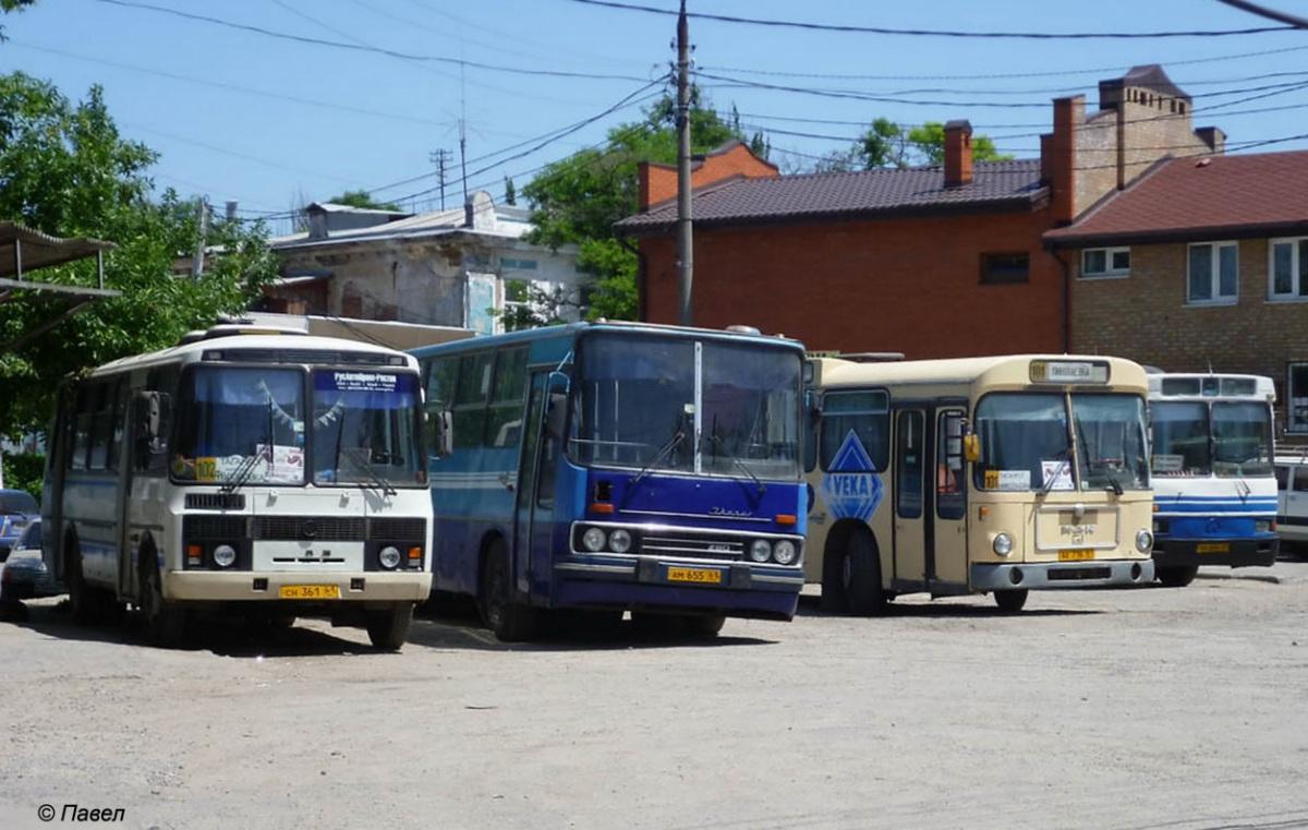 Таганрог. ПАЗ-4234 сн361, MAN SL200 ак716, ЛАЗ-52523 ам656, Ikarus 260.27 ам655