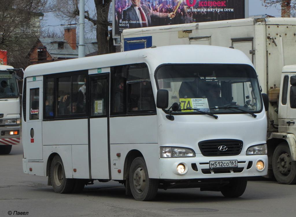 Таганрог. Hyundai County SWB м512со