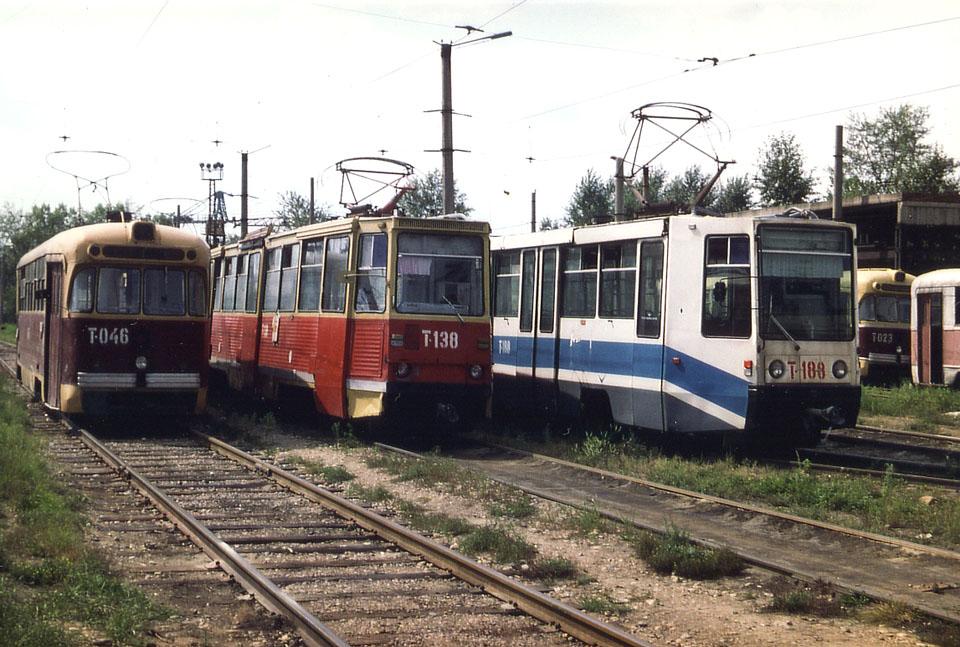 Ангарск. РВЗ-6М2 №023, РВЗ-6М2 №046, 71-608К (КТМ-8) №188, 71-605 (КТМ-5) №138