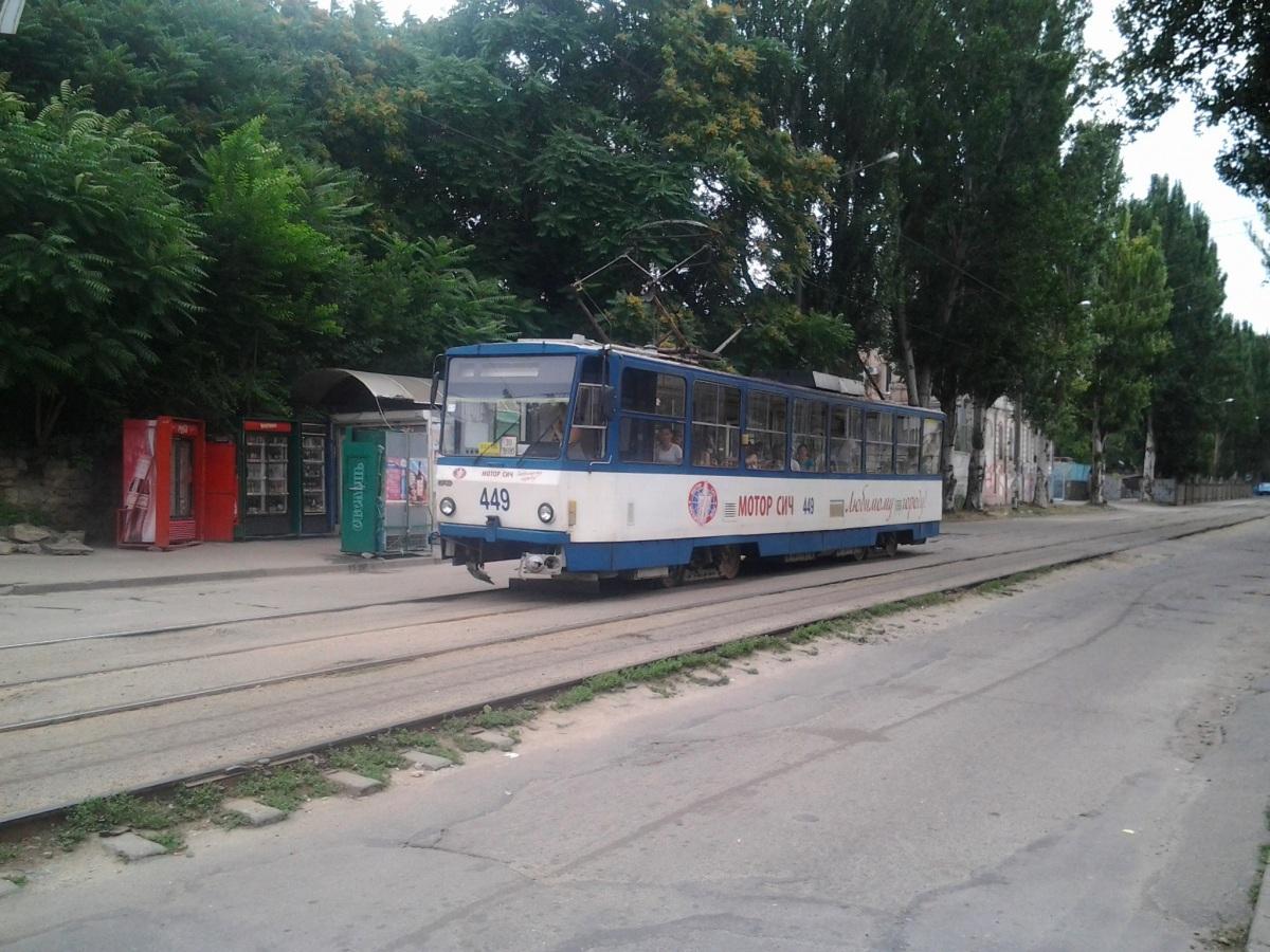 Запорожье. Tatra T6B5 (Tatra T3M) №449