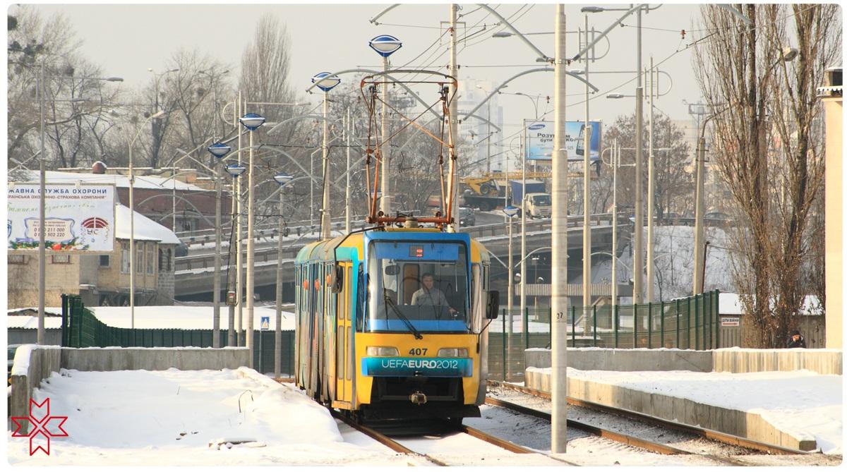 Киев. Tatra KT3 №407
