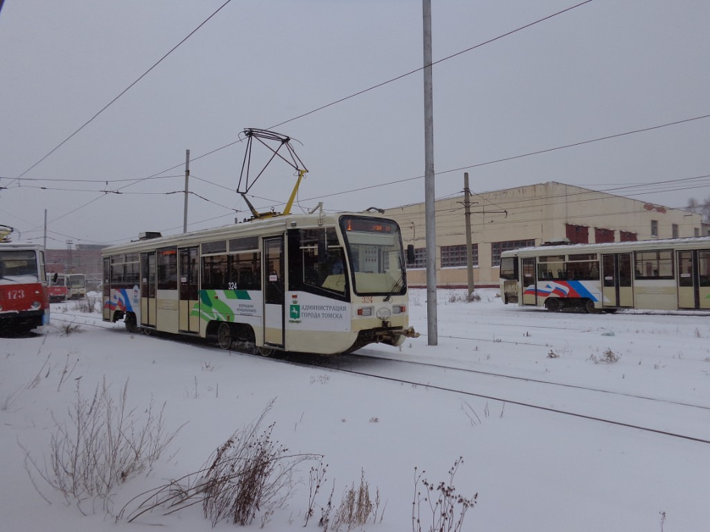 Томск. 71-619КТ (КТМ-19КТ) №324, 71-605 (КТМ-5) №173