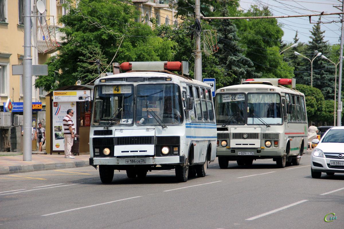 Ставрополь. ПАЗ-32054 у029тт, ПАЗ-3205 у186ов
