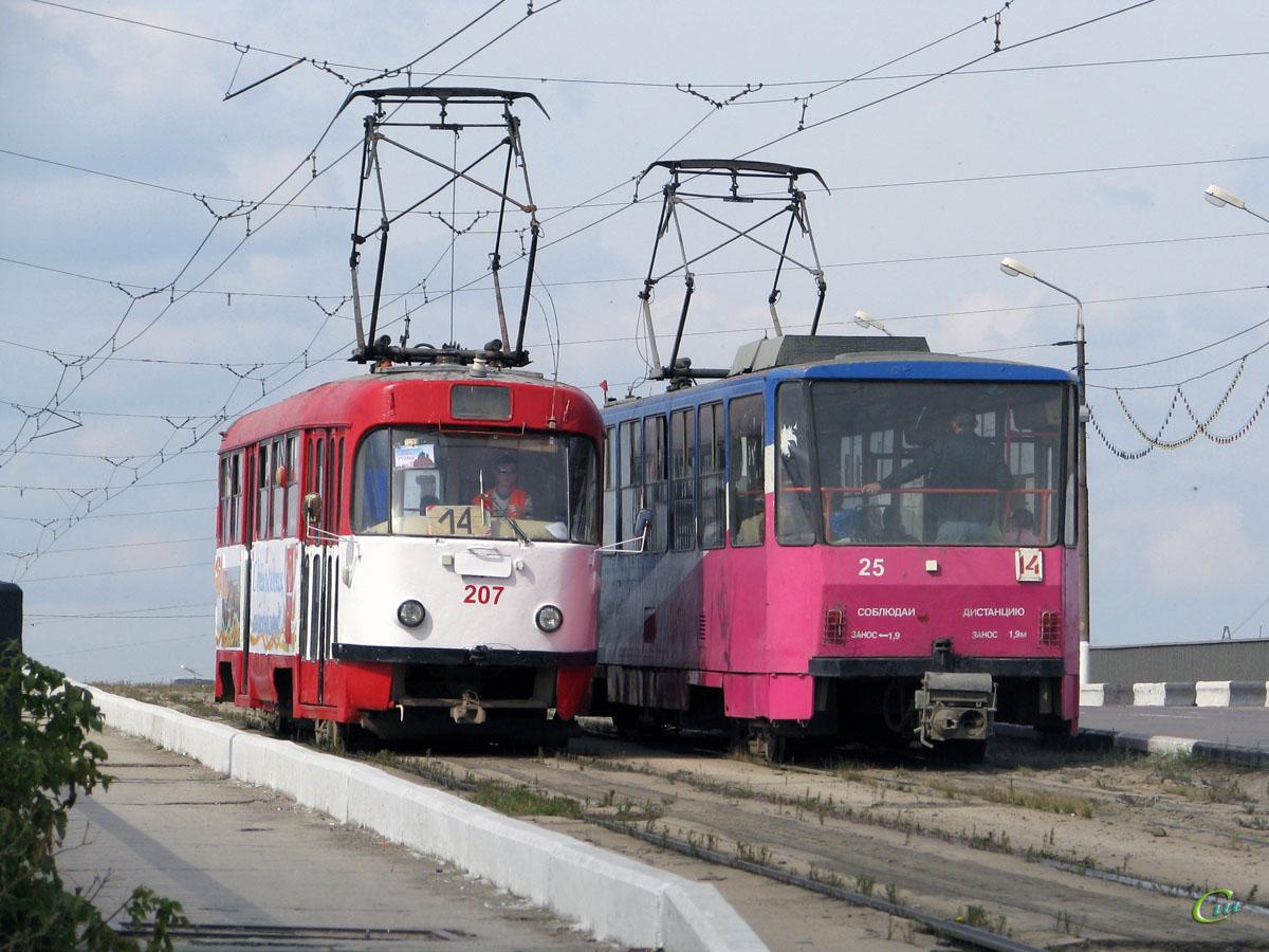 Тула. Tatra T6B5 (Tatra T3M) №25, Tatra T3SU №207