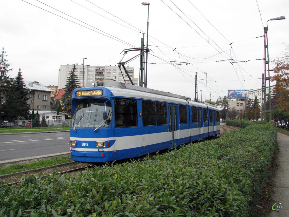 Краков. Duewag GT8S №3042