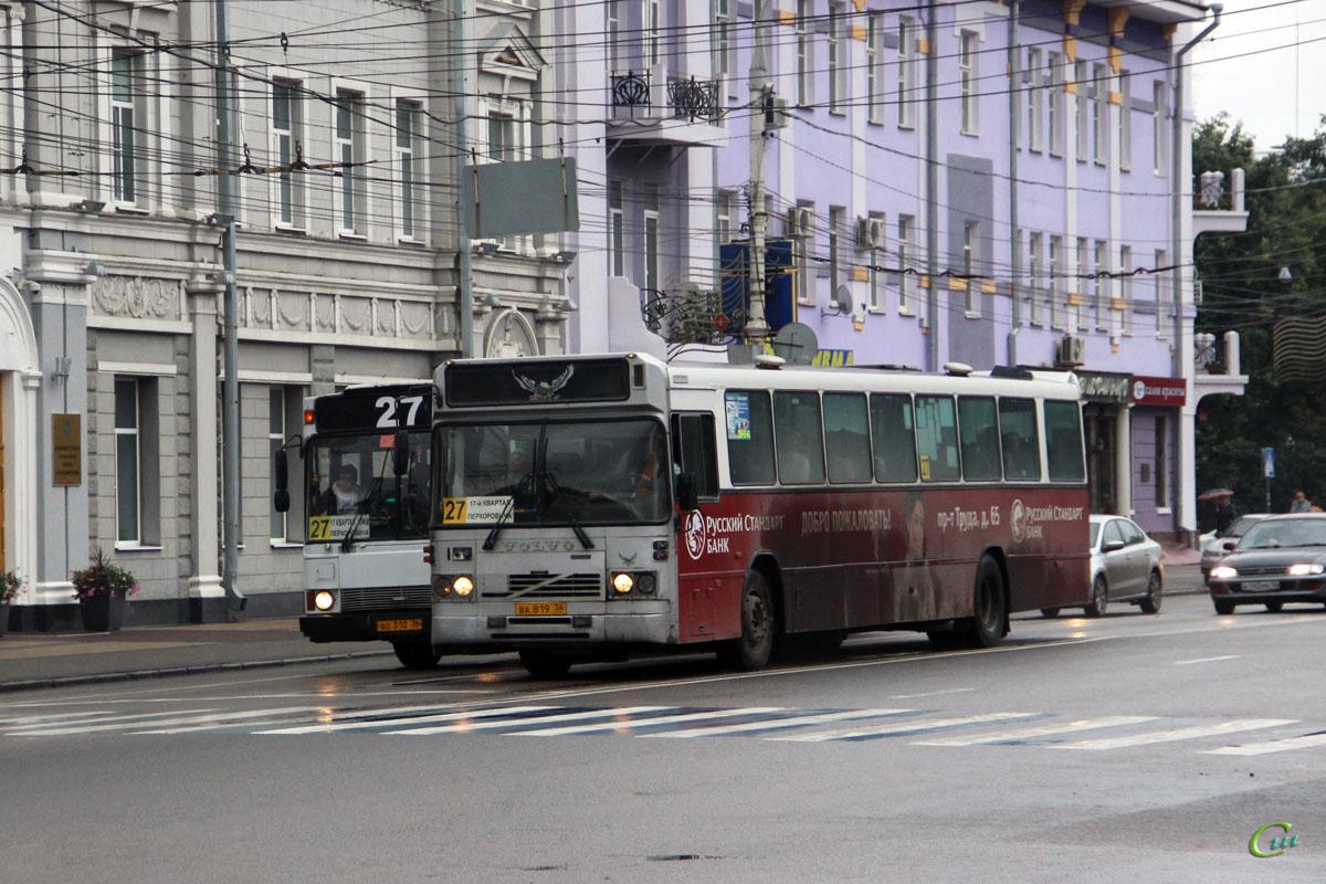Воронеж. Ajokki City (Volvo B10M-60) ао310, Säffle (Volvo B10M-65) ва819