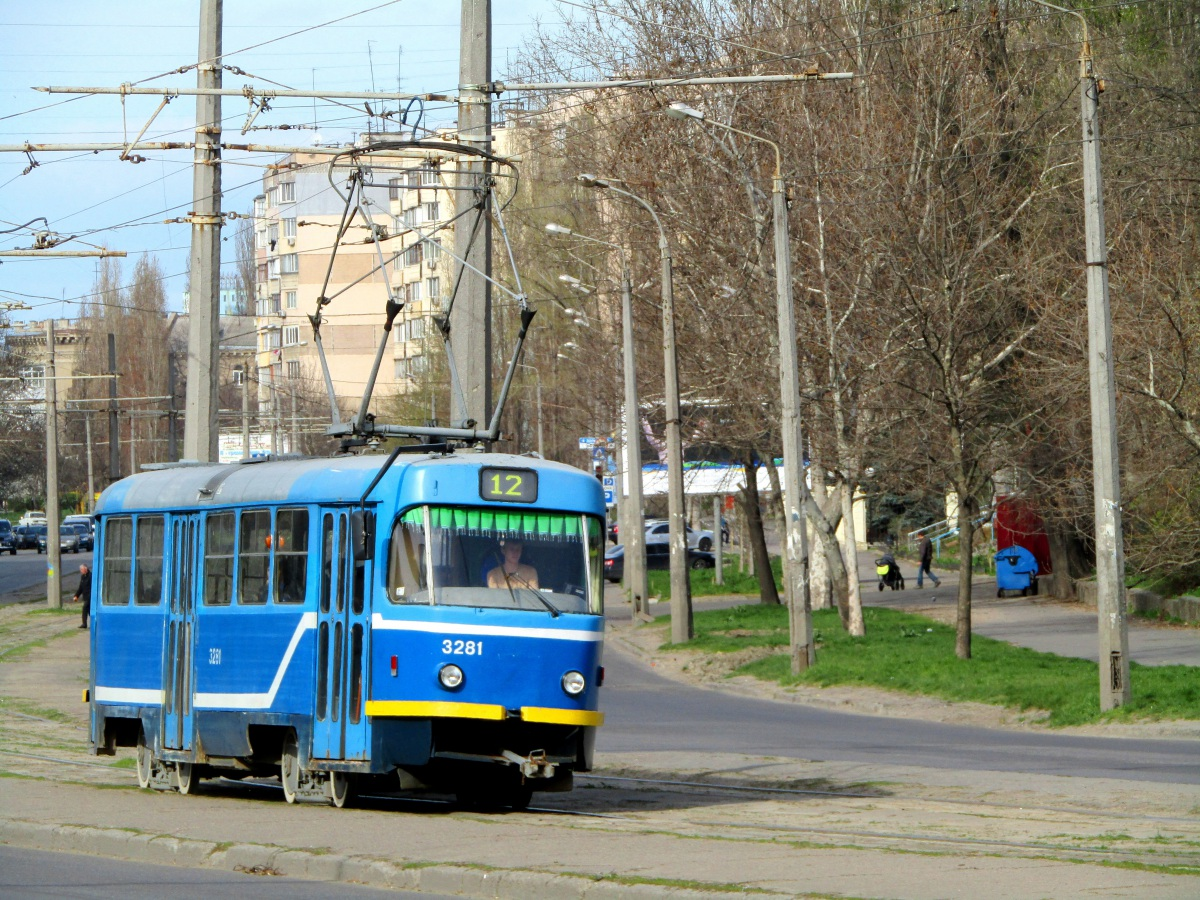 Одесса. Tatra T3R.P №3281