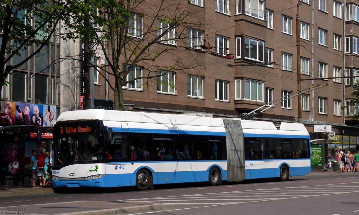 Таллин. Solaris Trollino 18 AC №446