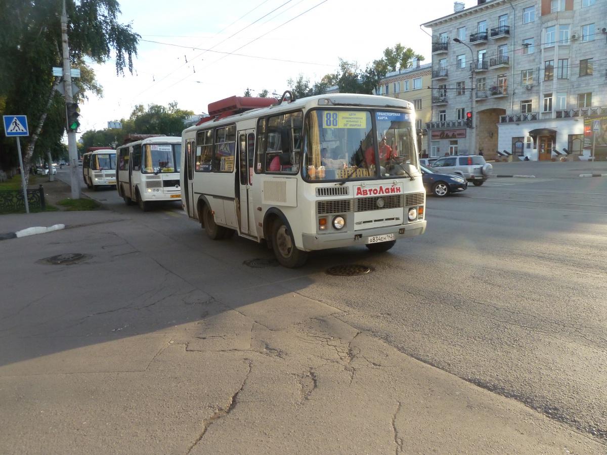 Новокузнецк. ПАЗ-32054 а834ен