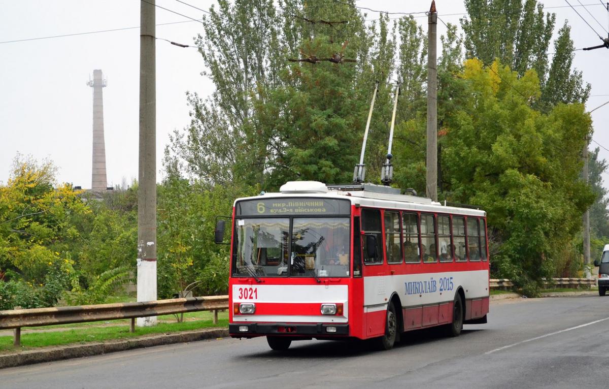 Николаев. Škoda 14TrR №3021