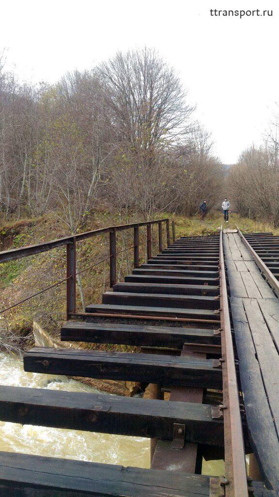 Апшеронск. Мост на недействующем перегоне Гуамка - Мезмай
