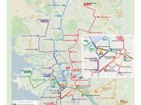 Санкт-Петербург. Ночные маршруты автобусов Санкт-Петербурга, работающих по линиям метро