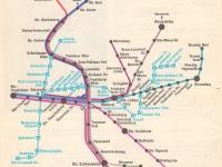 Берлин. Схема метро и городской электрички из атласа Восточного Берлина