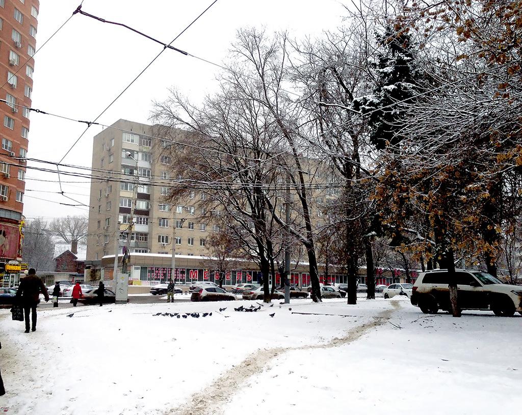 Ростов-на-Дону. Занесенная снегом конечная станция трамвая Завод Ростсельмаш