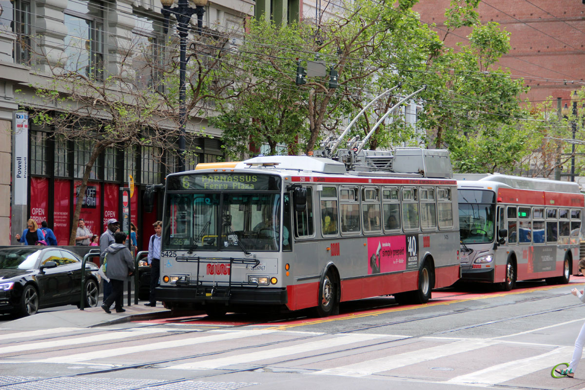Сан-Франциско. Škoda 14TrSF №5425