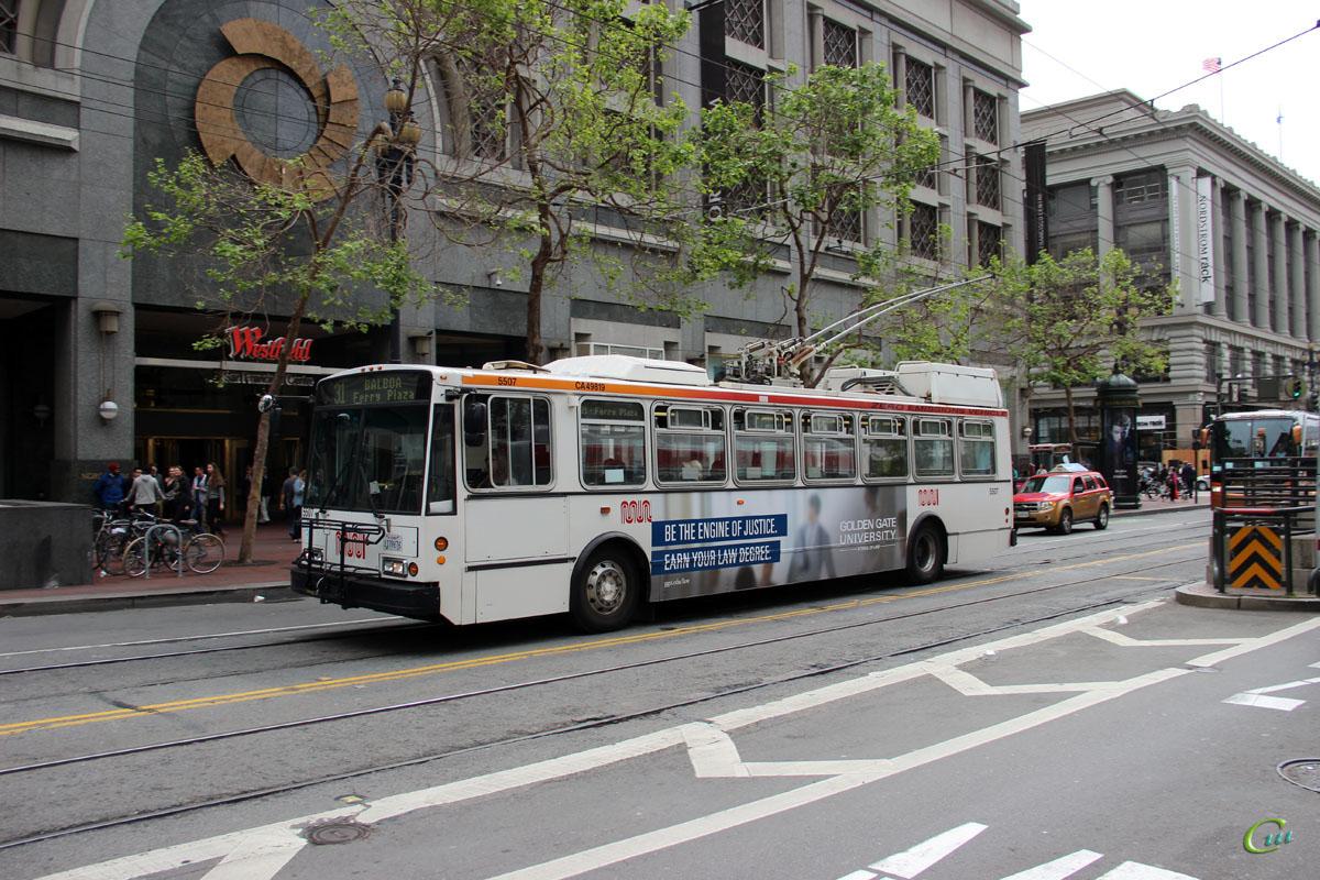 Сан-Франциско. Škoda 14TrSF №5507