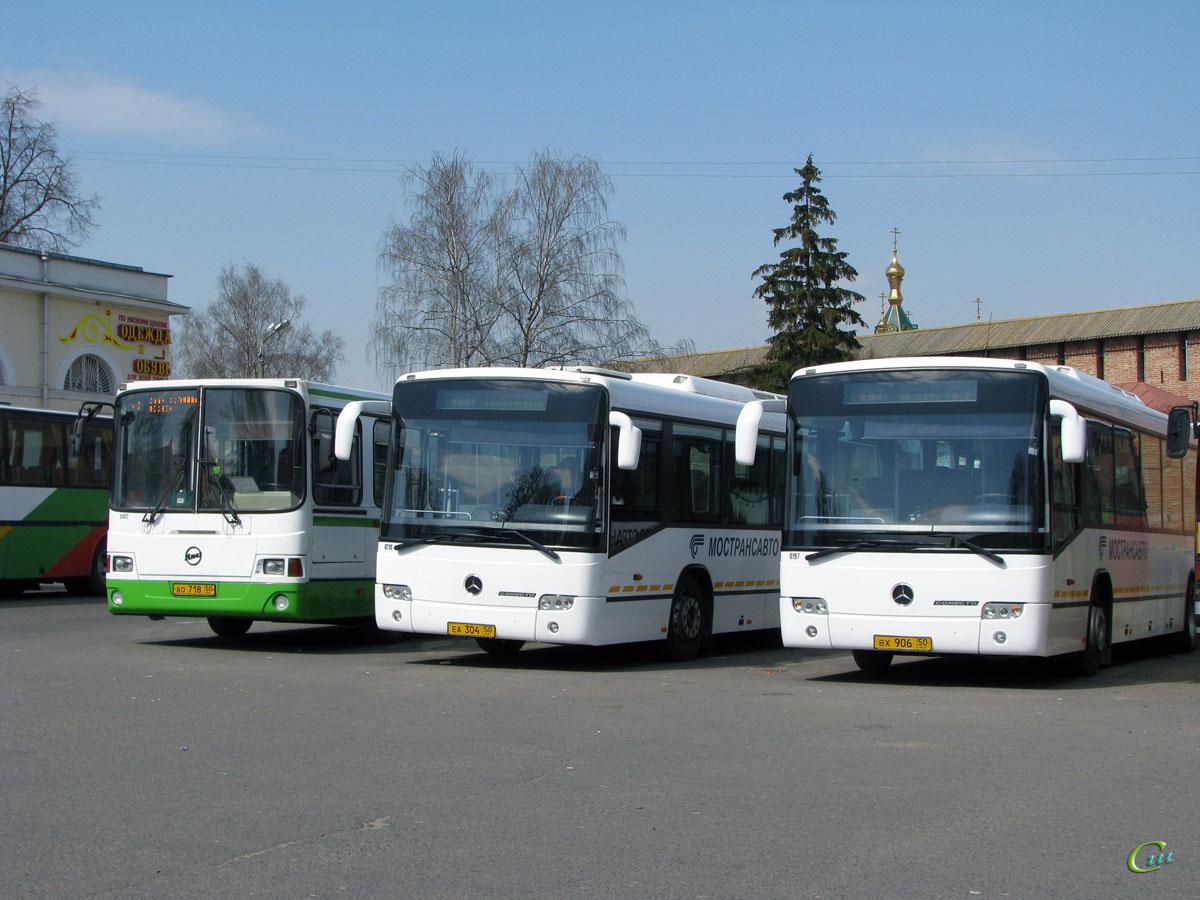 Коломна. ЛиАЗ-5256.25 во718, Mercedes-Benz O345 Conecto H еа304, Mercedes-Benz O345 Conecto H вх906