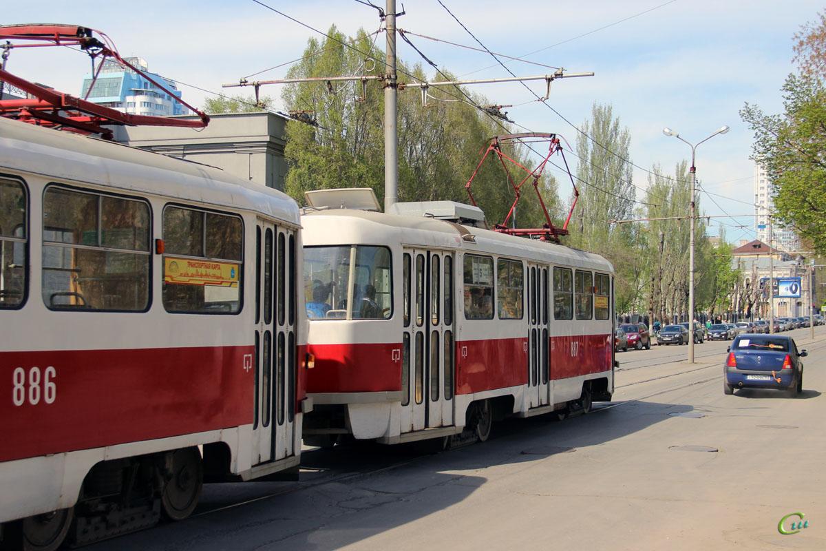 Самара. Tatra T3 №886, Tatra T3 №887