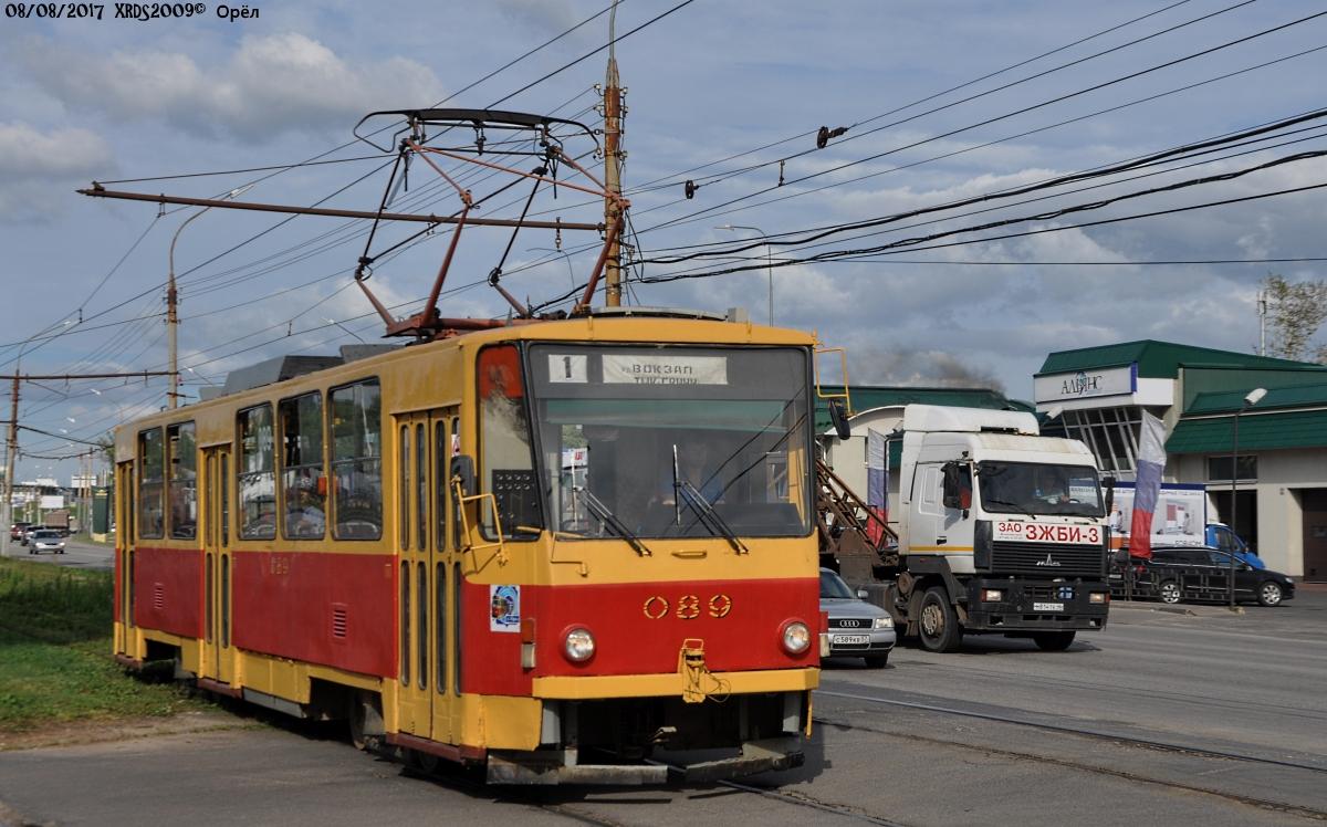 Орёл. Tatra T6B5 (Tatra T3M) №089