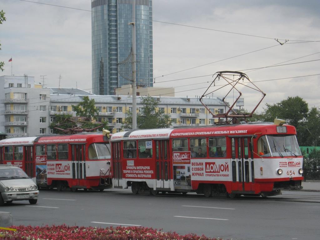 Екатеринбург. Tatra T3SU №654, Tatra T3SU №687