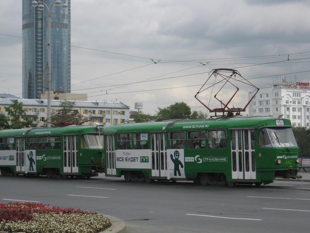 Екатеринбург. Tatra T3SU №642, Tatra T3SU №643
