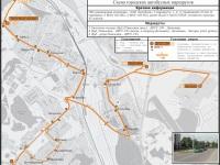 Заславль. Схема городских автобусных маршрутов по состоянию на 2017 год