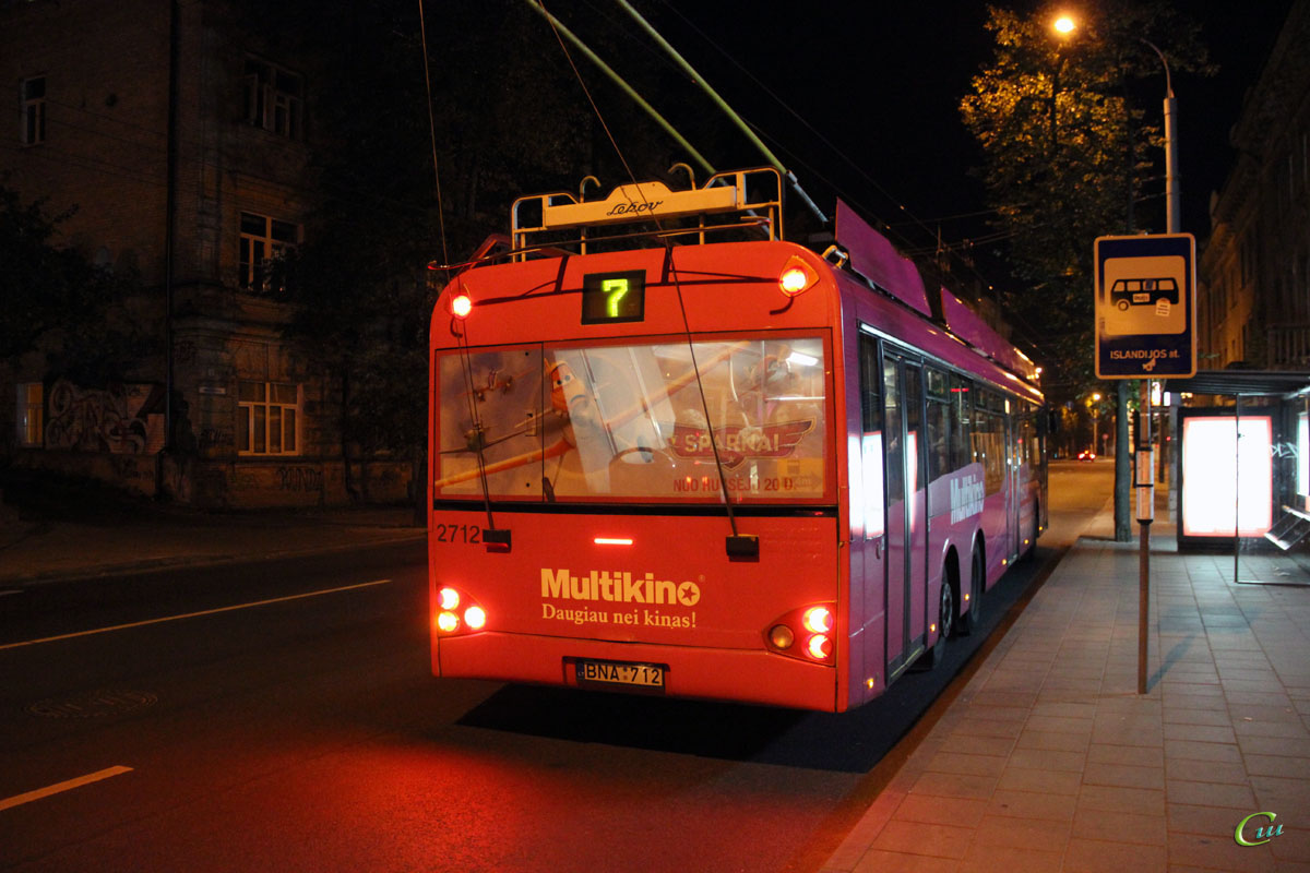 Вильнюс. Solaris Trollino 15 №2712