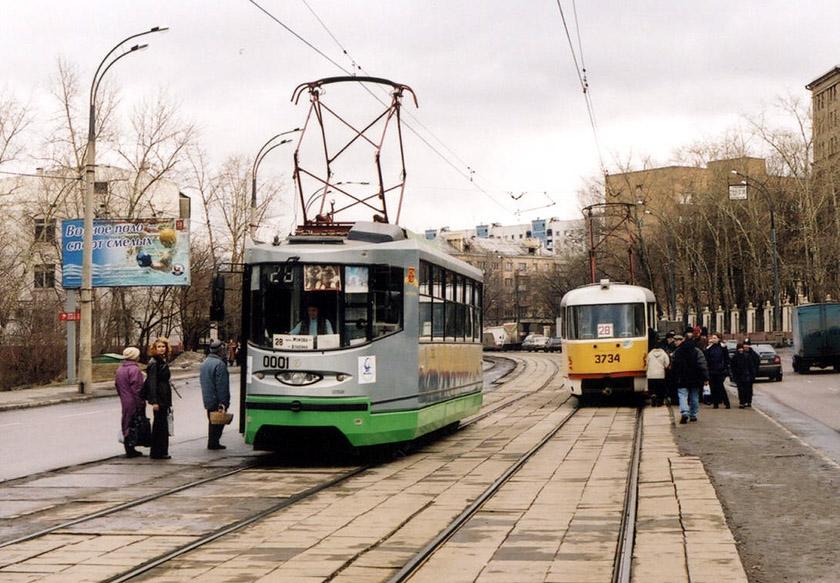 Москва. 71-135 (ЛМ-2000) №0001, Tatra T3SU №3734