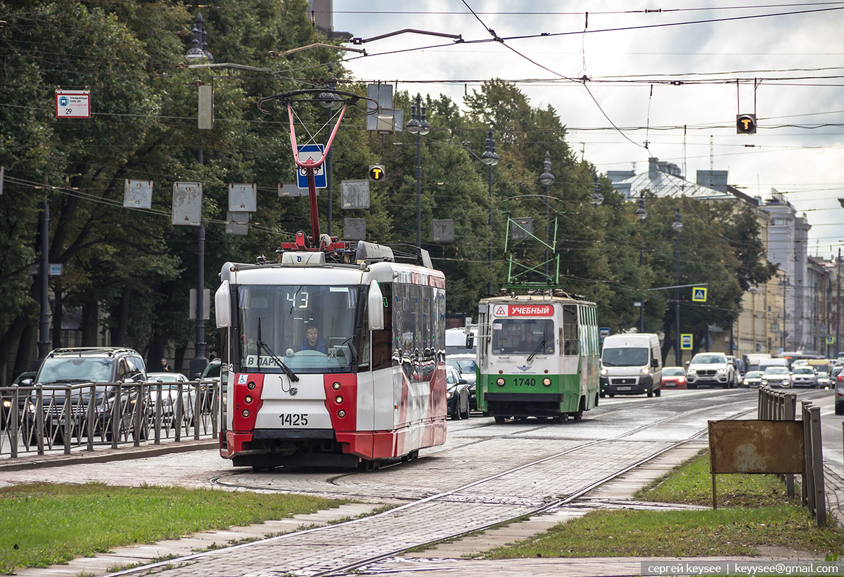 Санкт-Петербург. ЛМ-68М №1740, 71-153 (ЛМ-2008) №1425
