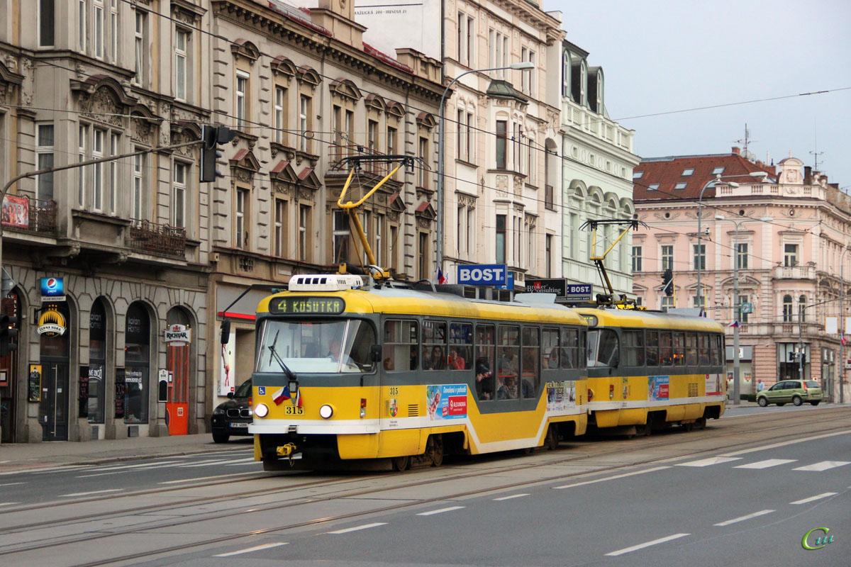 Пльзень. Tatra T3R.PLF №315