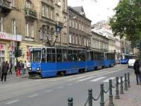 Краков. Konstal 105Na №827, Konstal 105Na №828, Konstal 105Na №838