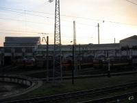 Кропоткин. Рассвет над локомотивным депо Кавказская