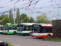 Пльзень. Škoda 24Tr Irisbus №497, Solaris Urbino 18 2P9 3398, Škoda 14TrM №459