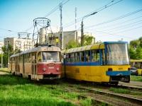 Киев. Tatra T3SU №6012, Tatra KT3 №411, Tatra T3SU №6000