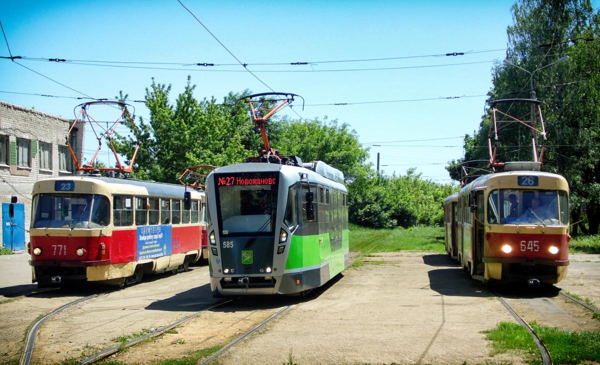 Харьков. Tatra T3SU №771, Tatra T3SU №645, Tatra T3 (ВПНП) №585