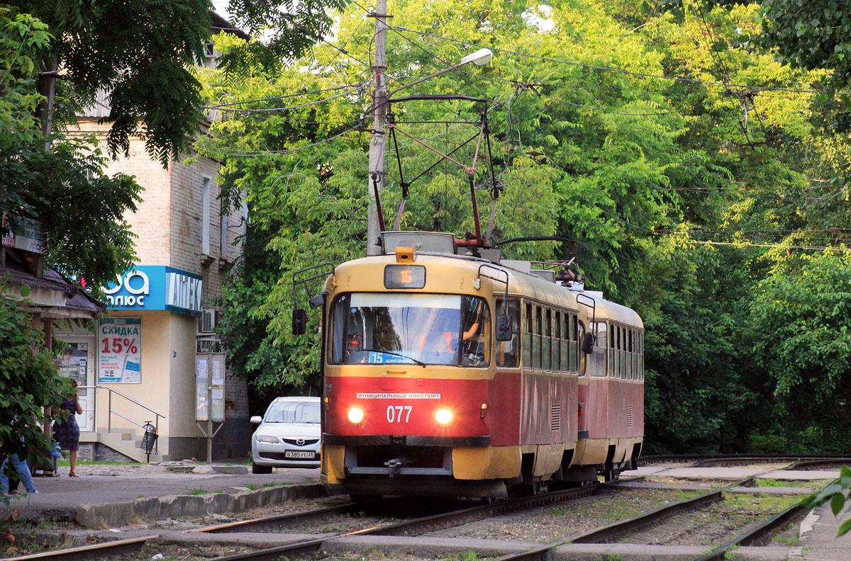 Краснодар. Tatra T3SU №077, Tatra T3SU №078