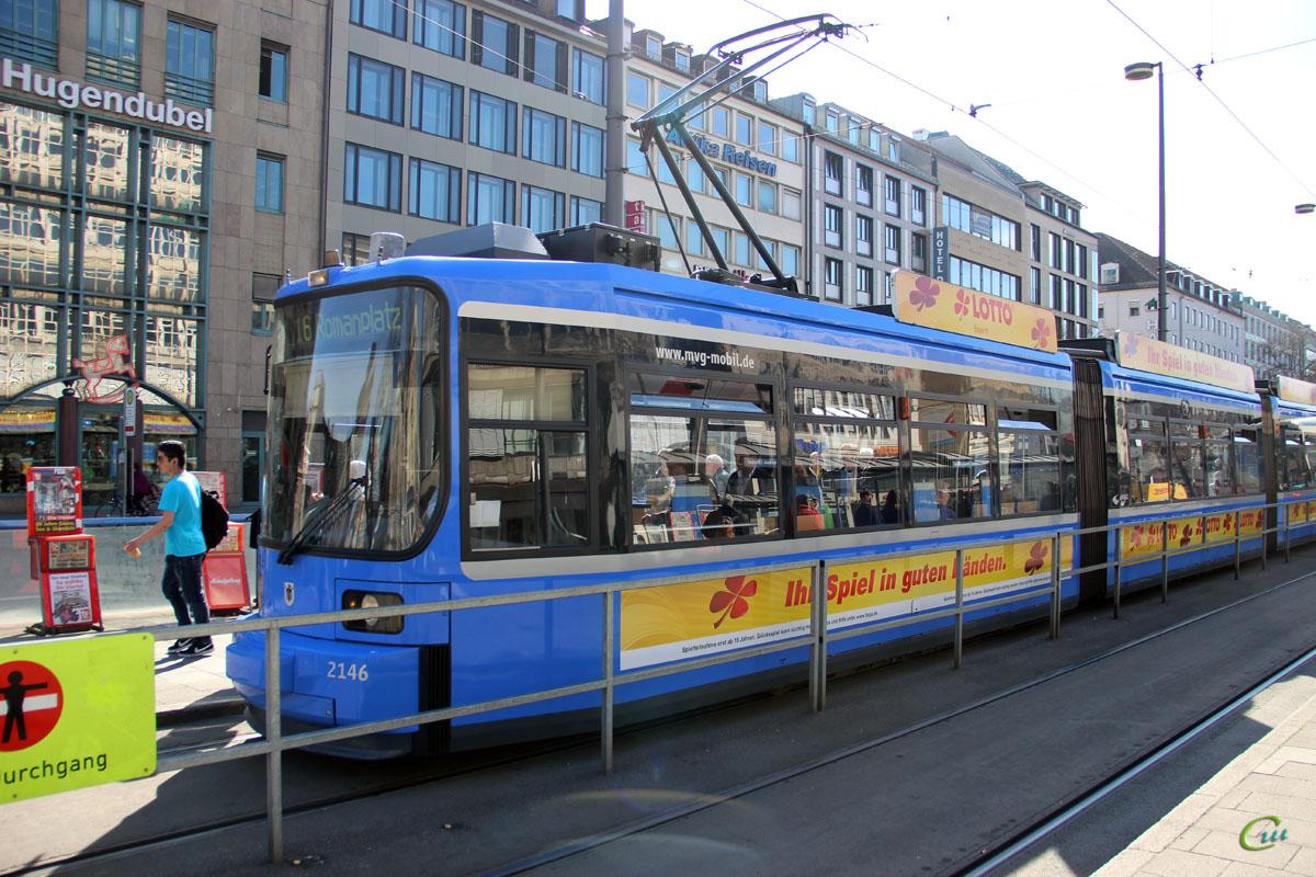 Мюнхен. Adtranz R2.2 №2146