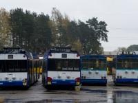 Рига. Škoda 14Tr89/6 №11167, Škoda 14Tr89/6 №11232, Solaris Trollino 18 №16000, Solaris Trollino 18 №16011
