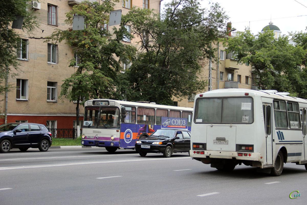 Белгород. Mercedes-Benz O307 н558рт, ПАЗ-32054 р613хх