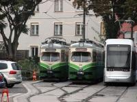 Грац. Stadler Variobahn №231, SGP GT8 №582, SGP GT8 №584