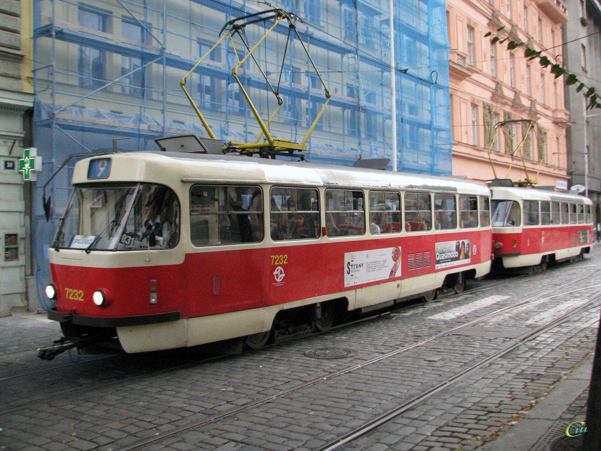Прага. Tatra T3SUCS №7255, Tatra T3SUCS №7232