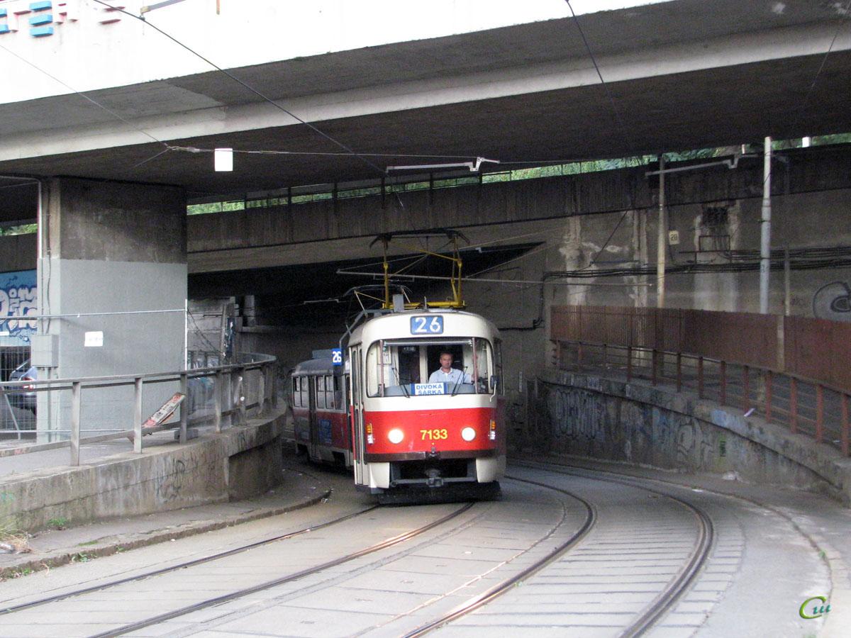 Прага. Tatra T3SUCS №7133
