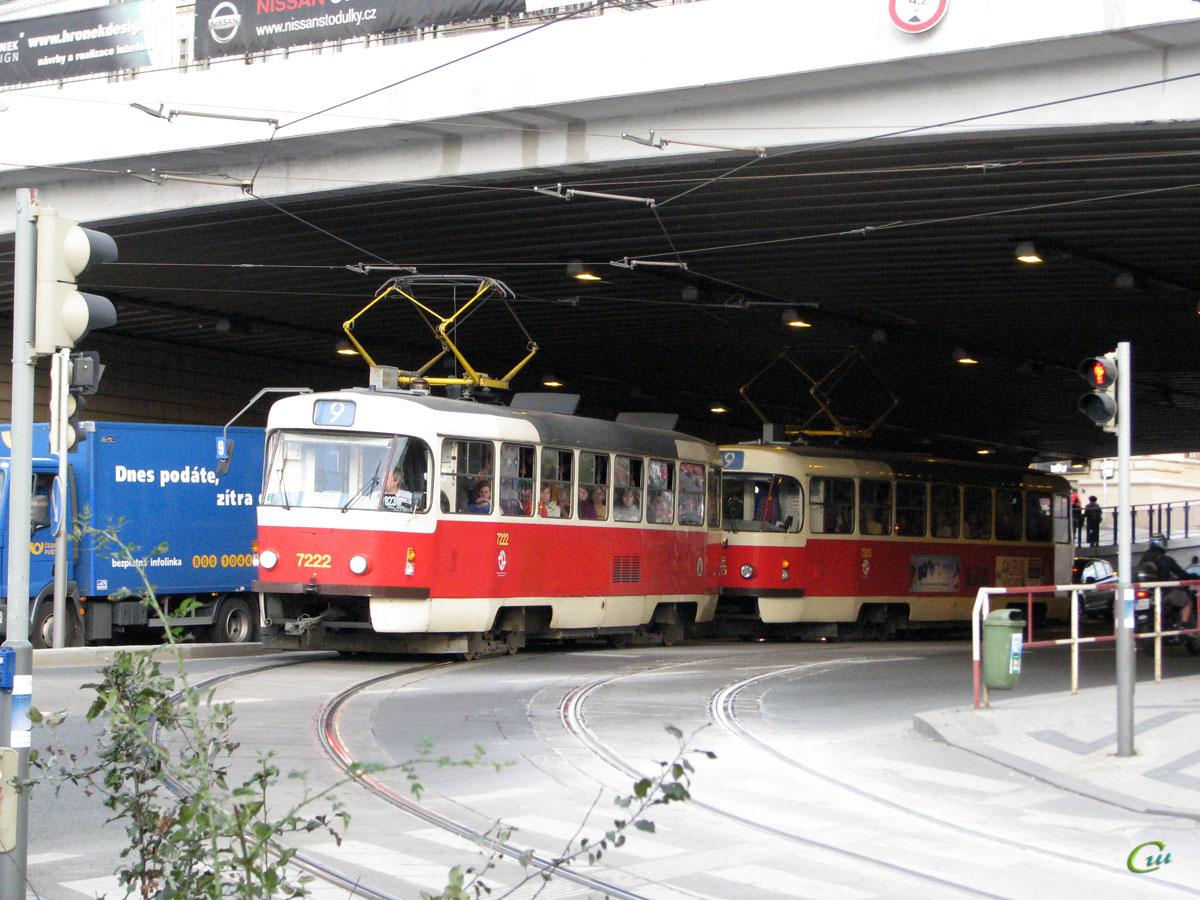 Прага. Tatra T3SUCS №7222, Tatra T3SUCS №7205