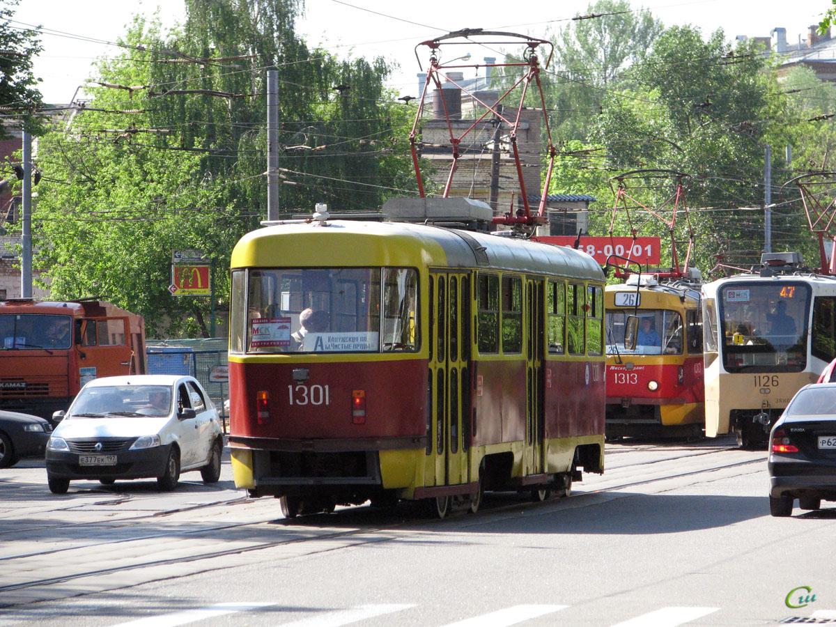 Москва. Tatra T3 (МТТЕ) №1301