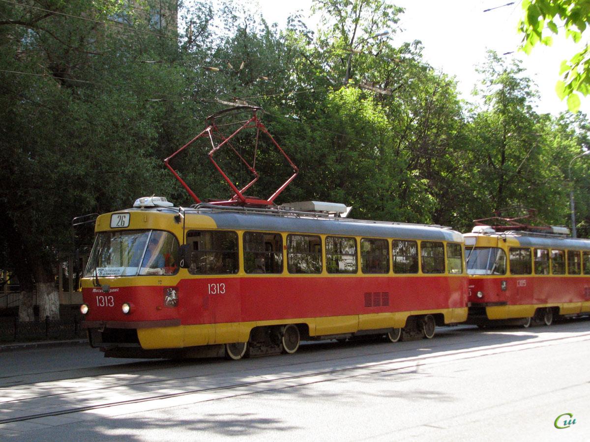 Москва. Tatra T3 (МТТЕ) №1313