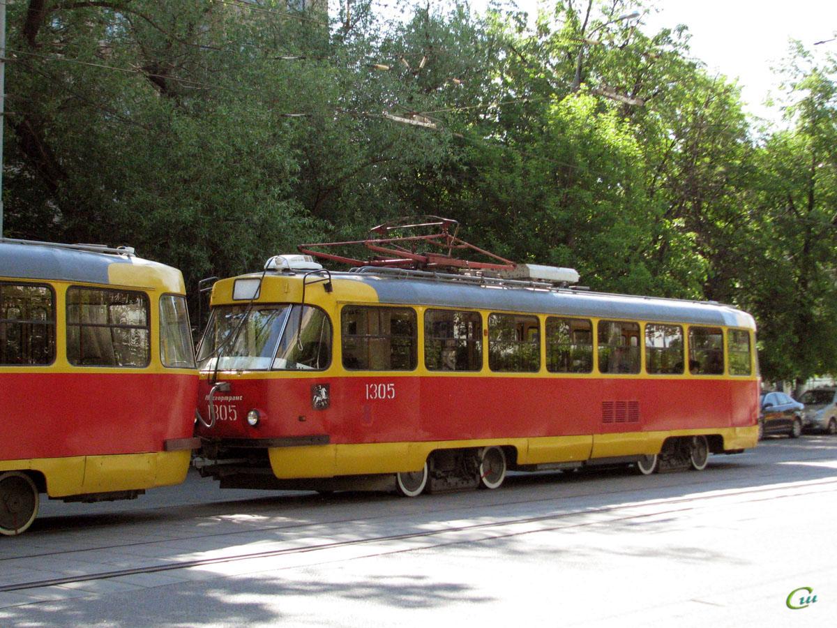 Москва. Tatra T3 (МТТЕ) №1305